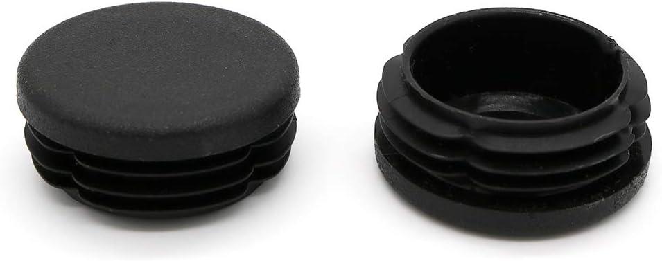 color negro Tap/ón de l/áminas redondo 40 unidades, di/ámetro 55 mm
