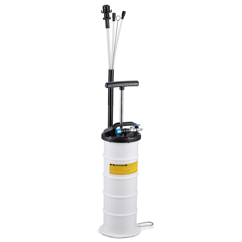Mrcartool Pneumatic/Manual 6.5 Liter Oil Changer Vacuum Fluid Extractor Pump Tank Remover Storage Unit Sealing Cap