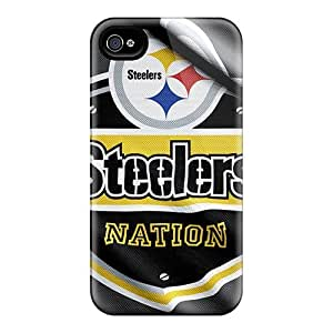 Tough Iphone IVO1302BQGb Case Cover/ Case For Iphone 4/4s(pittsburgh Steelers)