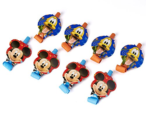 Mickey Mouse Clubhouse Party Blowers (8-Pack), Party Supplies (Minnie And Mickey Mouse Party Invitations)