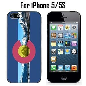 Colorado Flag Rocky Mountains Custom Case/ Cover/Skin *NEW* Case for Apple iPhone 5/5S - Black - Plastic Case (Ships from CA) Custom Protective Case , Design Case-ATT Verizon T-mobile Sprint ,Friendly Packaging - Slim Case