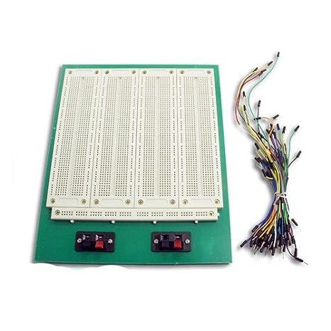 4 en 1 700 Posición Point SYB-500 Tiepoint PCB sin soldadura Pan Junta Protoboard + 65pcs Jumper Cable Wires: Amazon.es: Electrónica