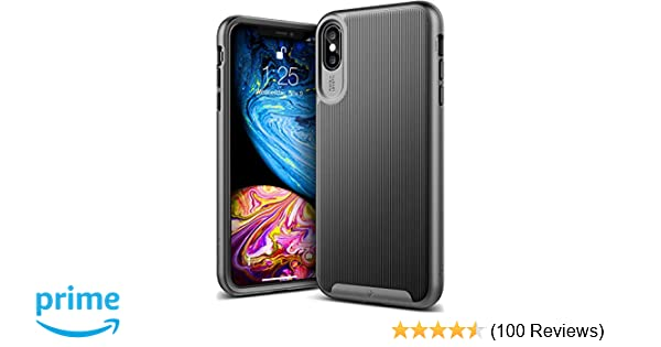 Caseology Wavelength for iPhone Xs Max Case (2018) - Stylish Grip Design - Black