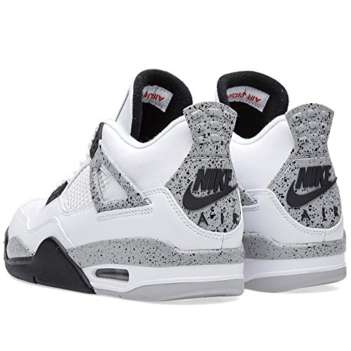 buy online 7e318 8f811 ... Nike Air Jordan 4 Retro OG Herren Hallo Top Basketball Trainer 840606  Turnschuhe Schuhe Weiß, ...