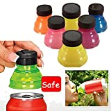 Forfar 6Pcs Reusable Bottle Caps Beverage Can Lids Snap Tops On Camping Drink Saver Cover gift : Improve Your Picnic or BBQ Experience