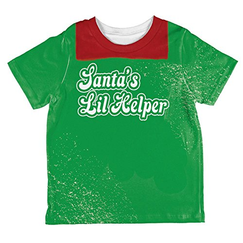 Christmas Santa's Lil Helper Daddy's Lil Monster Costume All Over Toddler T Shirt Multi 2T ()