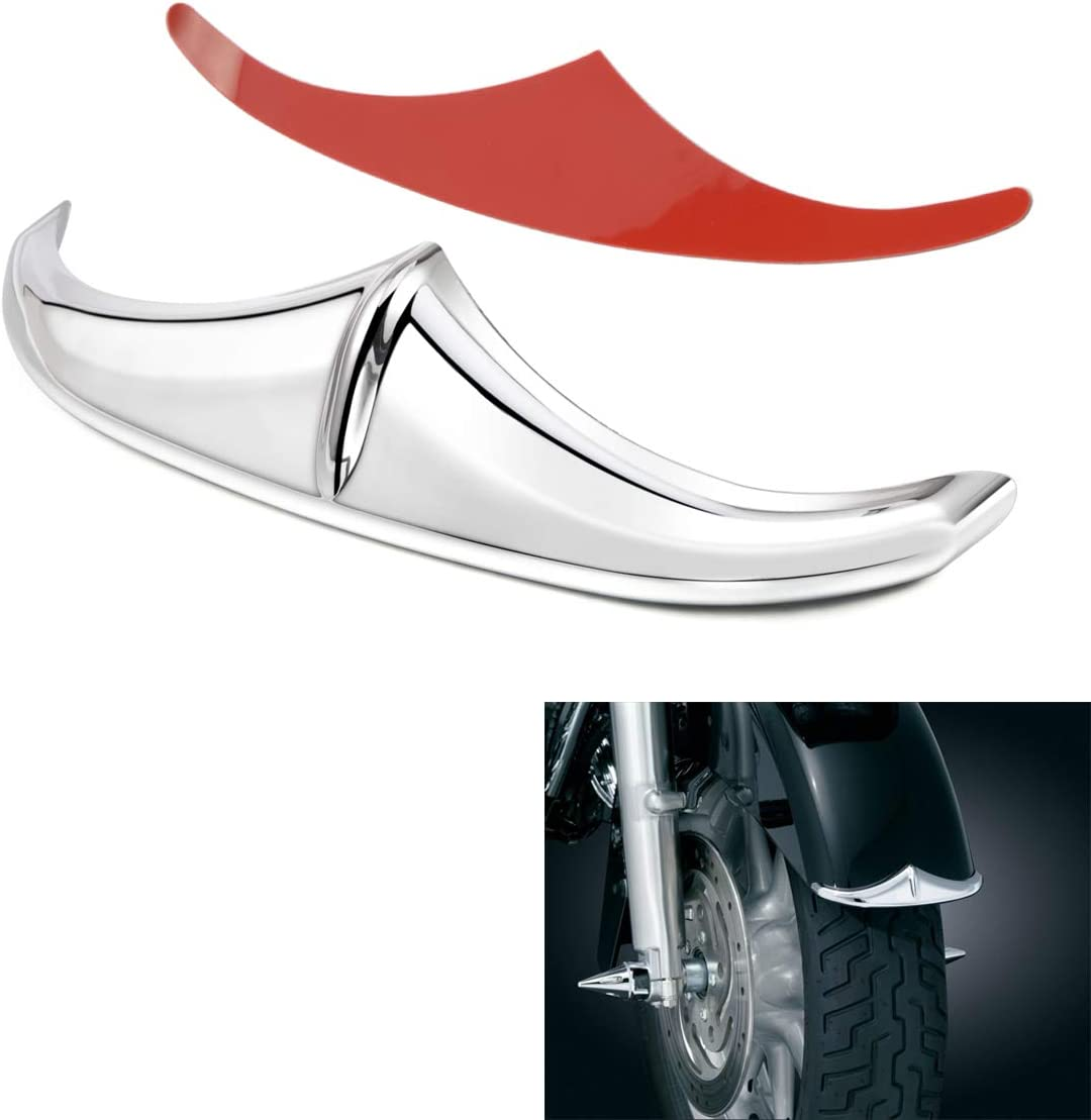 PBYMT Chrome Front Accent Leading Edge Compatible for Harley Harley Davidson Dyna Road King Street Electra Glide 1998-2019