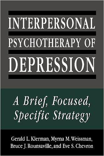 Amazon.com: Interpersonal Psychotherapy of Depression: A Brief ...