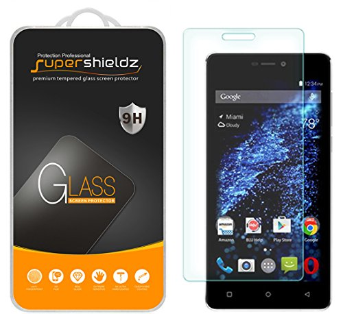 Supershieldz [2-Pack] for BLU (Studio Energy 2) Tempered Glass Screen Protector, Anti-Scratch, Anti-Fingerprint, Bubble Free, Lifetime Replacement