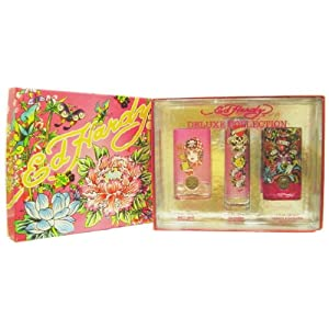 Ed Hardy Women Deluxe Collection Set with Born Wild, Ed Hardy and Hearts & Daggers Eau De Parfum Sprays