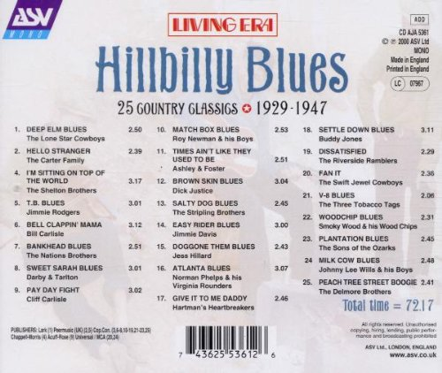 Hillbilly Blues by Asv Living Era