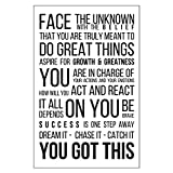 11 X 17 Black on White Motivational Poster Inspirational Text Wall Decor Office