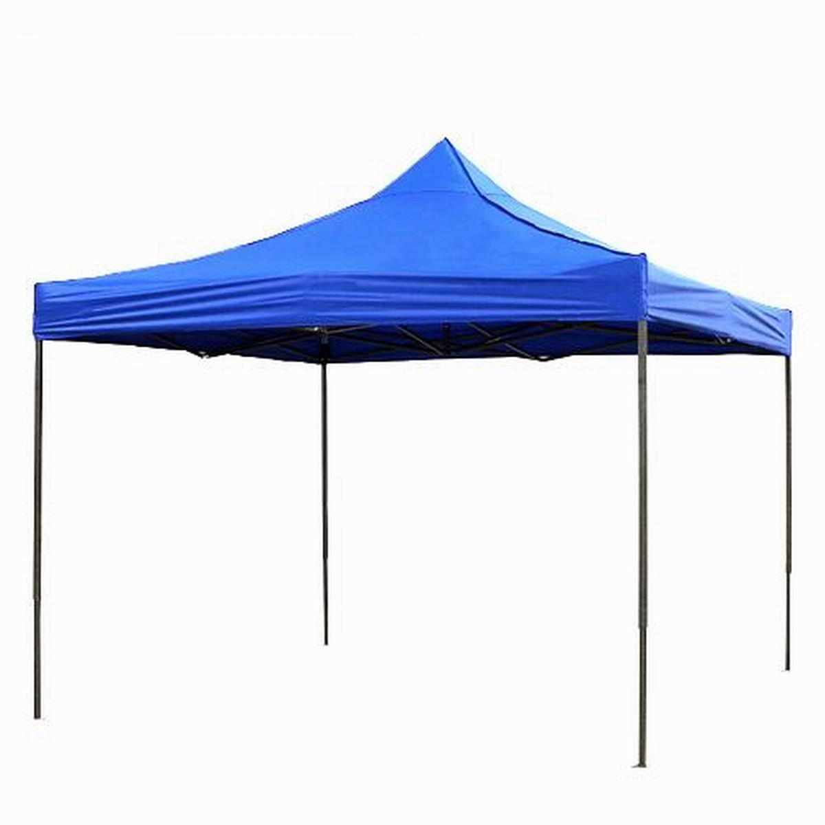 Qisan Folding Canopy Lightweight Gazebos outdoor pop up portable shade, Blue, 10 By 10-feet