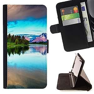 Momo Phone Case / Flip Funda de Cuero Case Cover - Naturaleza Hermosa Forrest Verde 42 - Samsung Galaxy Note 4 IV