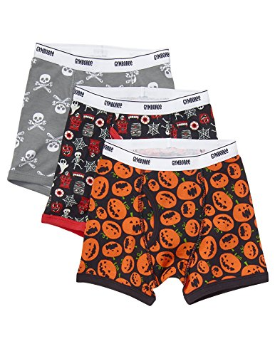 Gymboree Little Boys' Printed Boxer Brief (Pack Of 3), Halloween, XXS