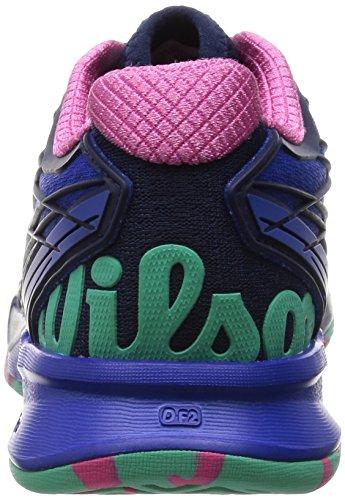 Wilson Chaussures Pour Femmes Kaos Tennis Iris Bleu / Bleu Marine / Rose