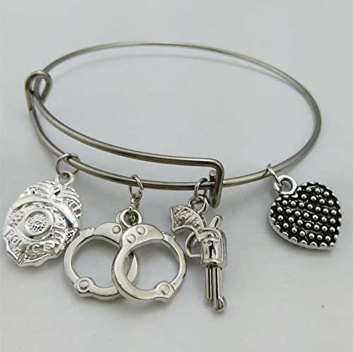 Amazon.com: Police Wife Bracelet, Police officer bracelet