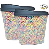 Plastic Food Containers & Lids 114oz Cereal Grain Dispenser Dry Food Container Set Storage & Organizer BPA Free