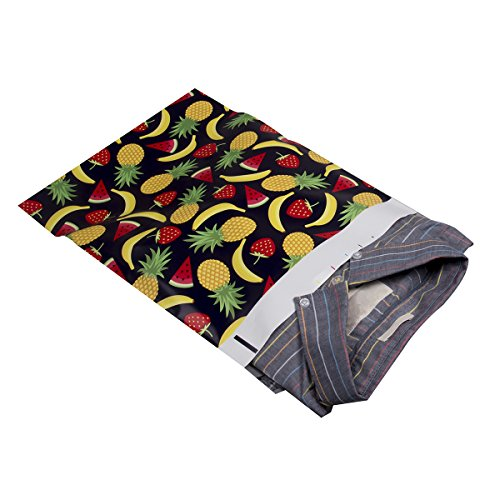 #4 10x13 Summer Fruits Designer Poly Mailers Shipping Envelopes Boutique Custom Bags 2.35MIL by Mailer Plus 100pcs Photo #4