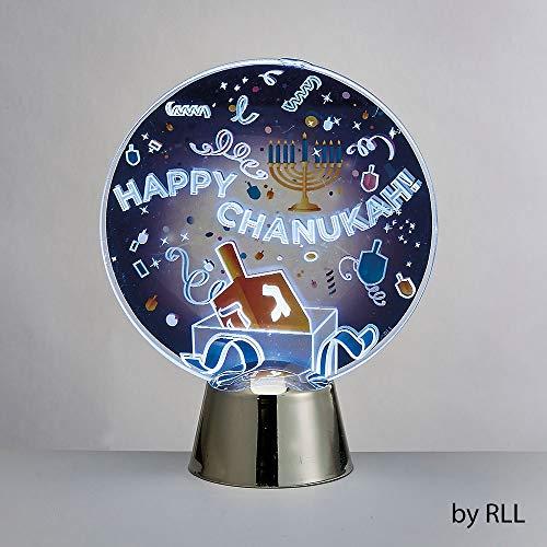 - Happy Chanukah LED Light Up Decoration - Dreidel Design