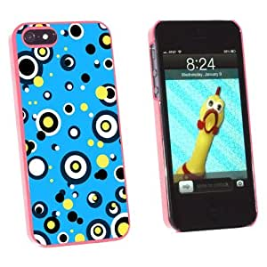 phone covers Graphics and More Circles Dots Blue Yellow - Snap-On Hard Protective Case for Apple iPhone 5c - Non-Retail Packaging - Pink
