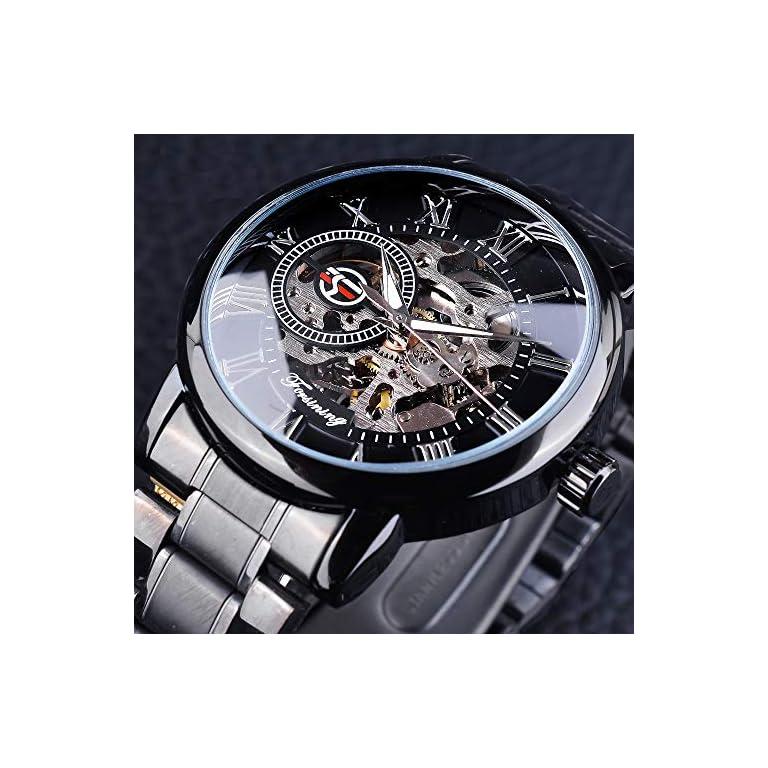 51dUpwOjMQL. SS768  - FORSINING chronograph Men's Watch (Black Dial Black Colored Strap)