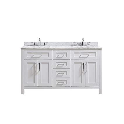 Ove Decors Tahoe 60w Marble Top Bathroom Double Sink Vanity 60 Inch
