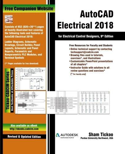 Swell Autocad Electrical 2018 For Electrical Control Designers Prof Sham Wiring Cloud Brecesaoduqqnet