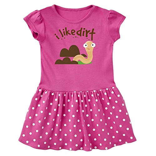 inktastic - I Like Dirt Toddler Dress 4T Raspberry with Polka Dots 15b59 ()