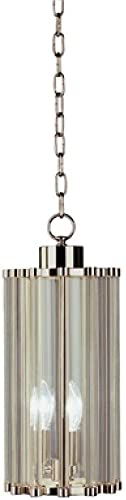 Robert Abbey S3336 Mini Pendants with Clear Glass Shades, Polished Nickel Finish