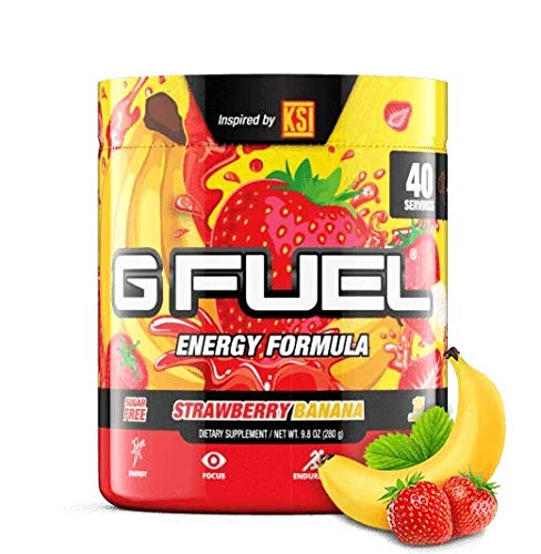 G Fuel KSI's Strawberry Banana Tub (40 Servings) Elite Energy and Endurance Formula 9.8 oz.
