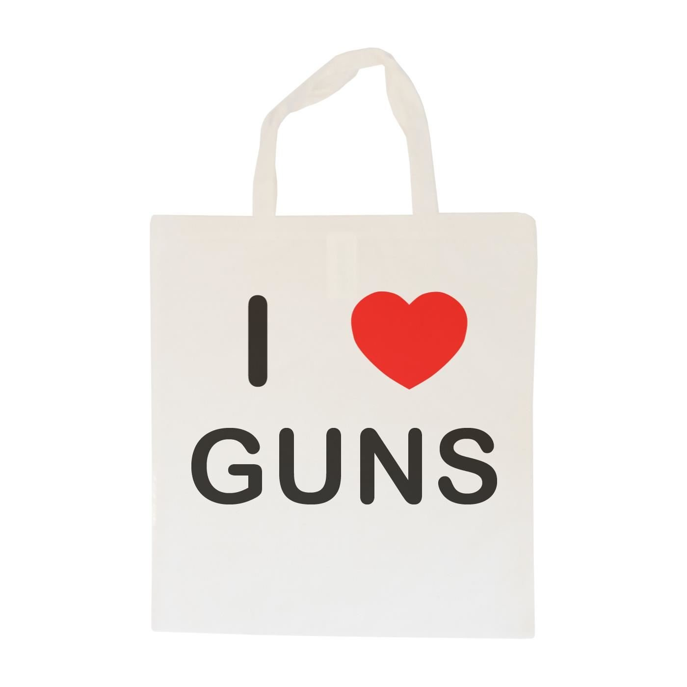 I love Guns Cotton Long Handle Sling Bag