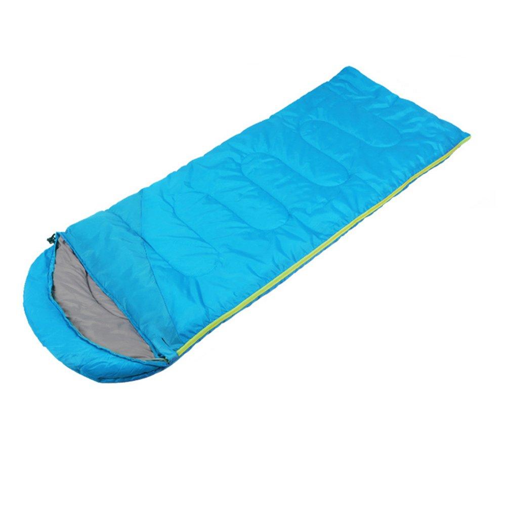 Bleu 1.3kg ZXQZ Sac de Couchage Adulte Camping Plus épais Sac de Couchage Chaud Sac de Couchage de Bureau portable Pause-déjeuner Sac de Couchage Adulte (Couleur   Bleu, Taille   1.6kg)