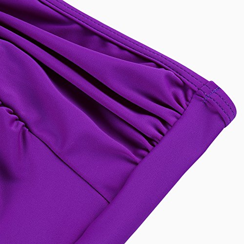 Set Sexy Imbottito Obliquo Porpora Donne Monokini FeelinGirl Da Costumi Bikini Bagno Stile Fiore x6vS4nq