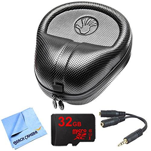 slappa-hardbody-pro-full-sized-headphone-case-black-includes-bonus-gigastone-32gb-microsd-memory-car