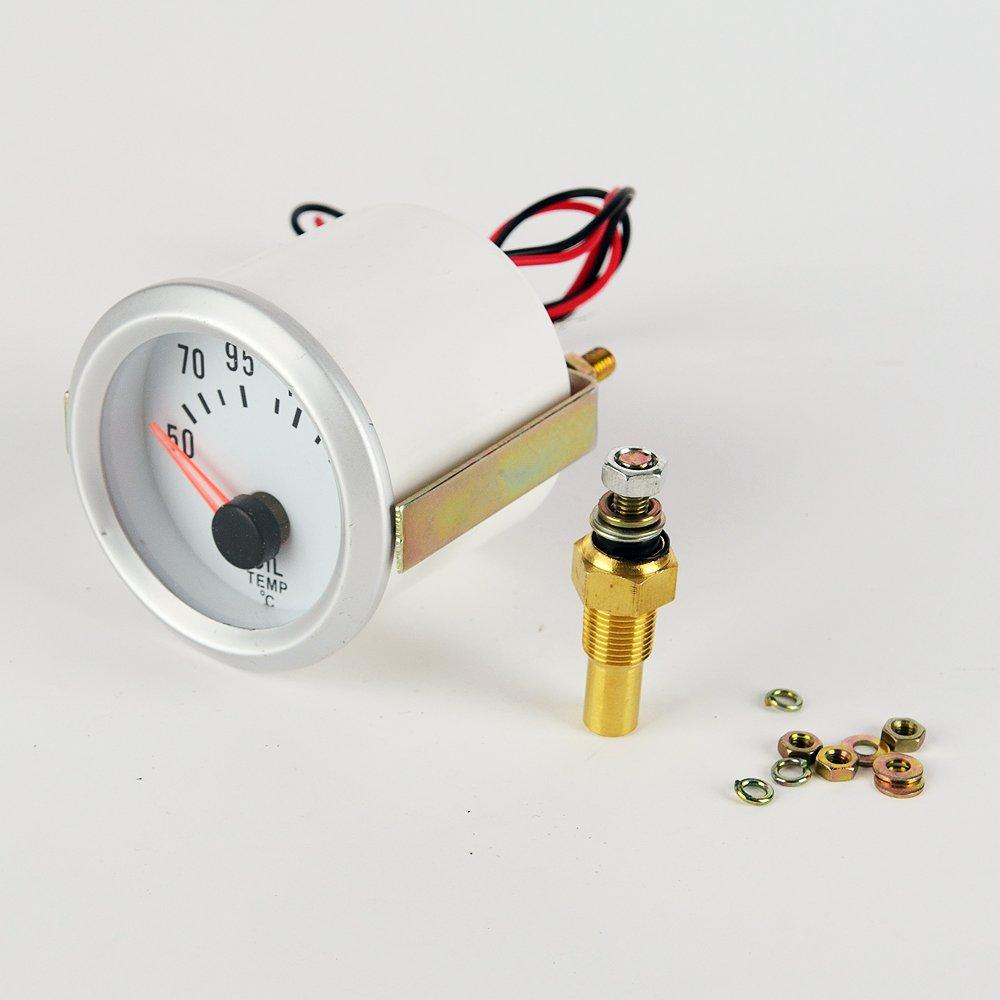 Coche Medidor de Temperatura del Aceite 52mm Azul LED Indicador Generic