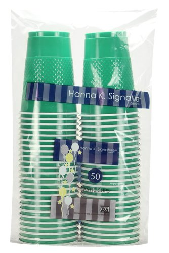 Hanna K. Signature Plastic Cup, 16 oz, Emerald Green