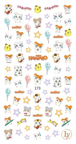 Gozebra(TM) 65 Cute Hamtaro Nail Decals 3D Nail Art Sticker for Nail Polish 136cm