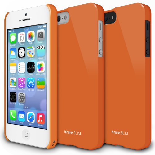 pretty nice b7c1e 427f1 Apple iPhone 5 / 5S Case - Ringke SLIM Case [LF Orange][Better Grip ...
