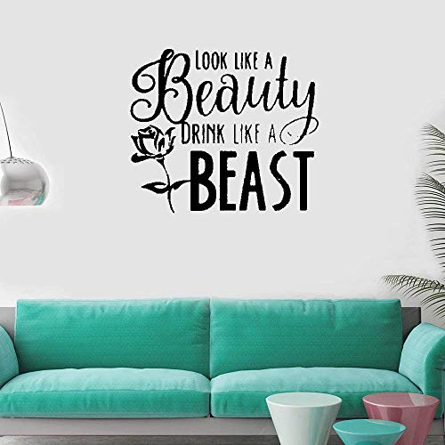 (Vinyl Removable Wall Stickers Mural Decal Art Look Like A Beauty Drink Like A)