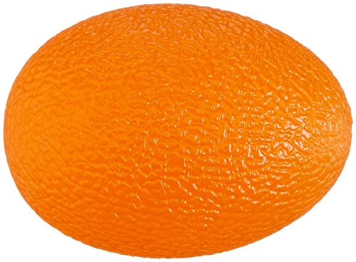 Sammons Preston Egg Shaped Hand Exercisers, Pack of 10 Firm Orange Exerciser Balls for Finger Thumb Strength, Physical Therapy, Rehabilitation, Stress Ball for Strengthening Exercises