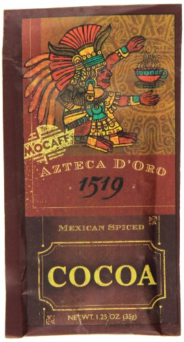 MOCAFE Azteca D'oro 1519 Mexican Spiced Ground Chocolate, 1.25-Ounce Pouches (Pack of 100)
