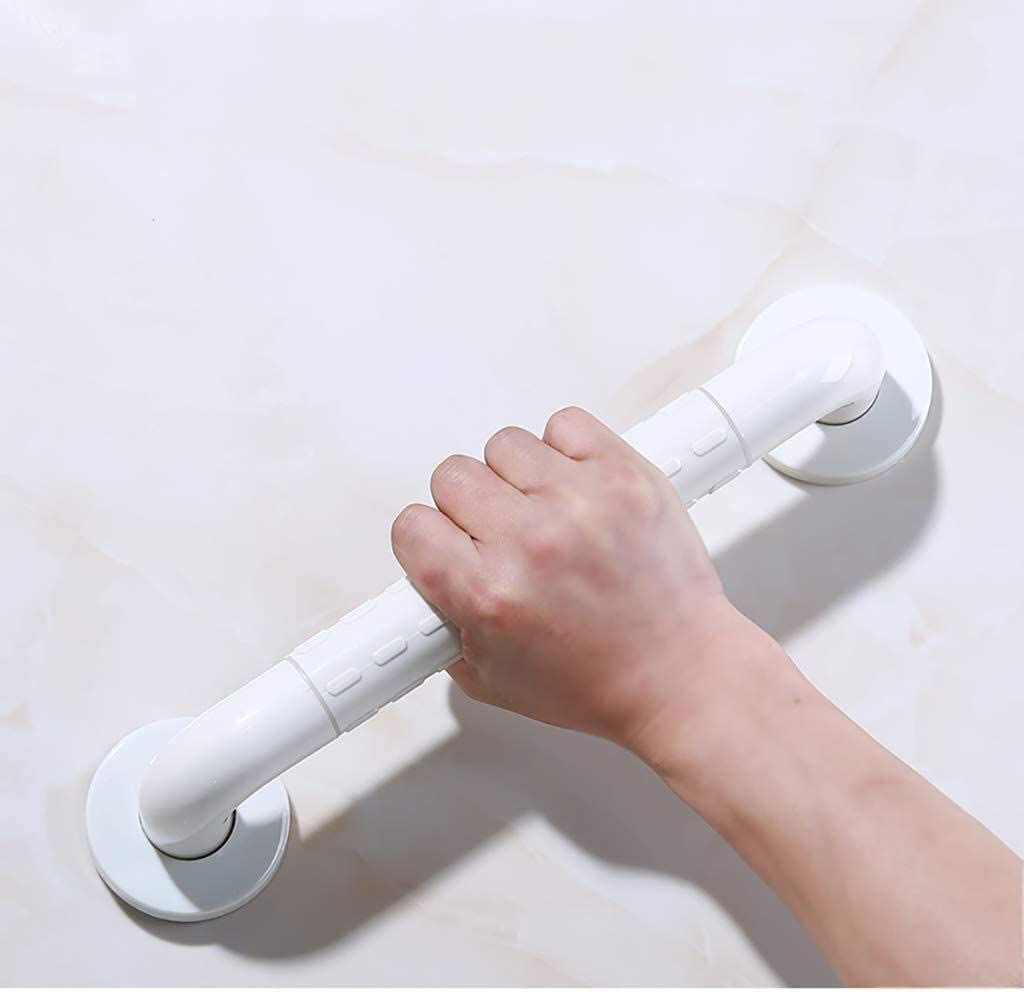 Bathroom Safety Rails Grab Bars In Bathroom, The Elderly Fall Prevention, Disabled Accessible Handrail Non-Slip Bath, Toilet Handle Security (Color : White, Size : 58Cm)