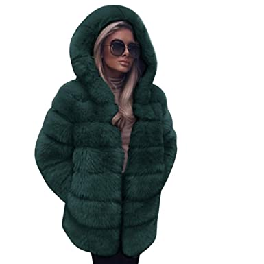 3f460d788a4 Women Plus Size Down Jackets Duseedik Luxury Faux Fur Coat Hooded Autumn  Winter Warm Overcoat Trench