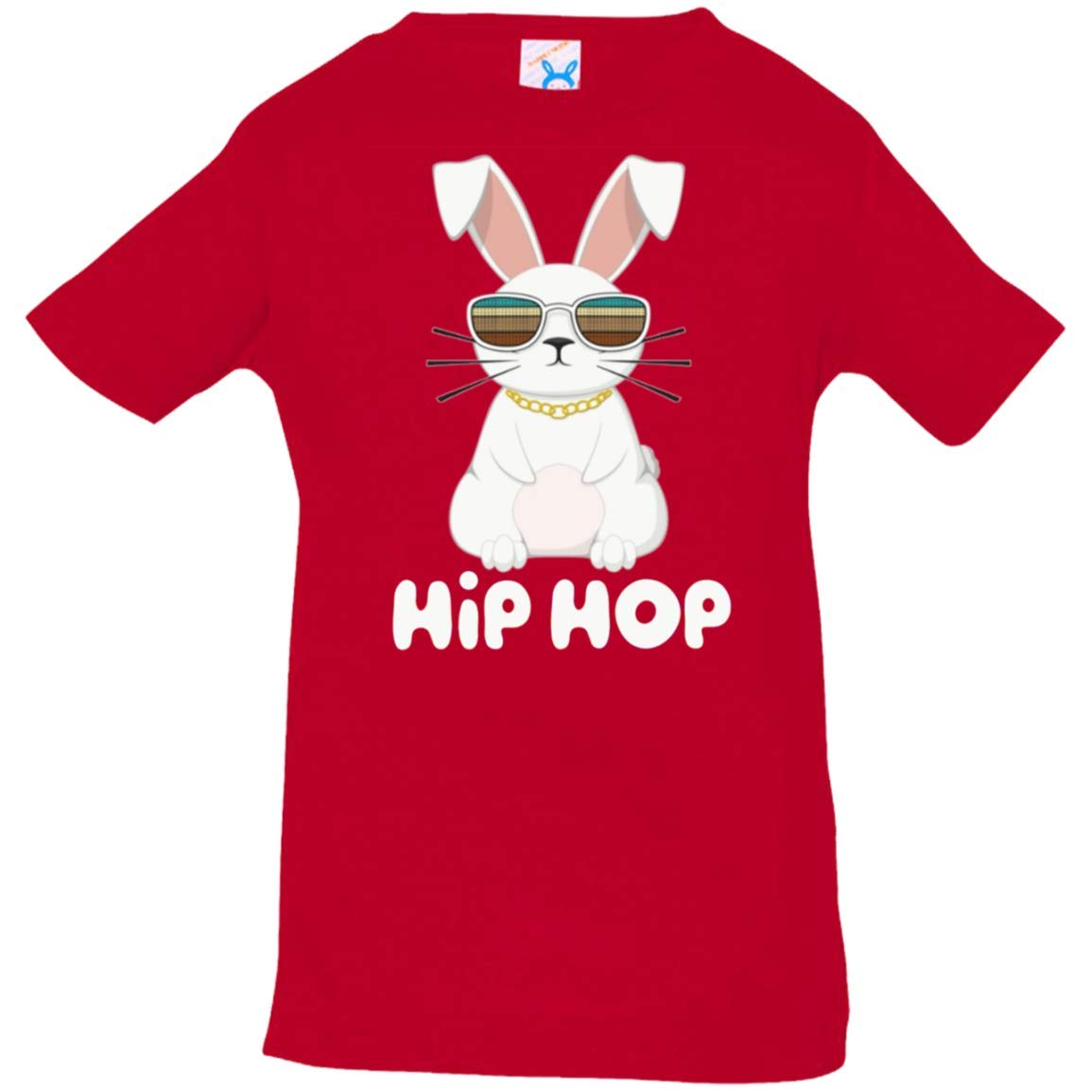Hip Hop Bunny With Sunglasses Cute Easter Tshirt 3322 Rabbit Skins Infant Tshirtred 12 Months