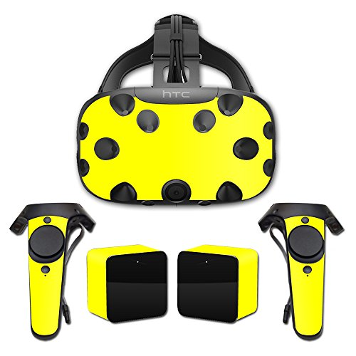 MightySkins Skin For HTC Vive Full Coverage - Solid Yellow | Protective, Durable, and Unique Vinyl Decal wrap cover | Easy To Apply, Remove, and Change Styles | Made in the USA by MightySkins
