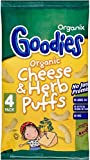 Organix Goodies Organic Puffs - Cheese & Herb 12mth+ (4x15g) - Pack of 6