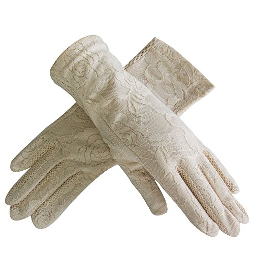 LANTINA summer women's lace cotton short sun gloves Anti-skid for - Sales Brisbane Boxing Day