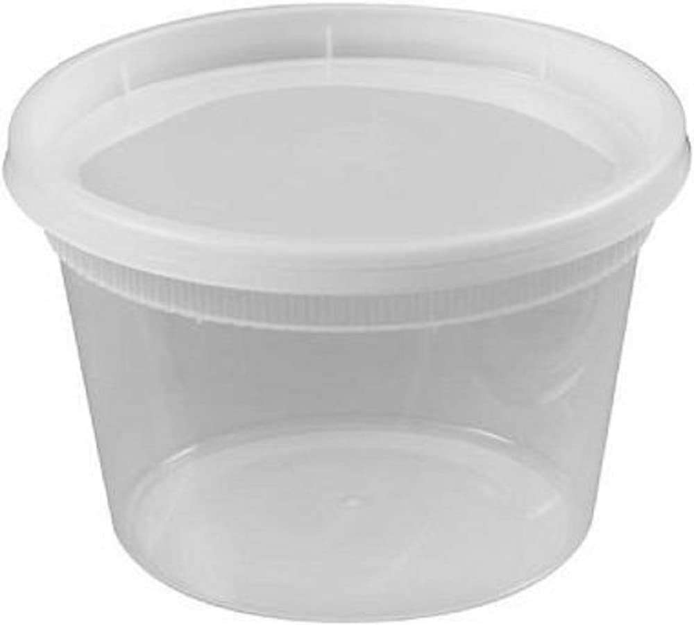 Deli Food Storage Containers with Lids, 16 Ounce, 24 Count