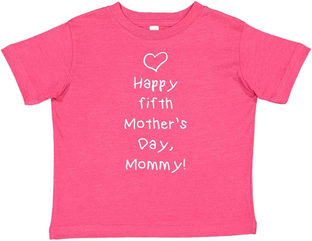 Happy Fifth Mothers Day Mommy Toddler//Kids Short Sleeve T-Shirt